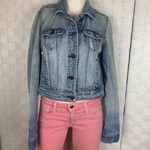 American Eagle Distressed Jean Jacket Size M
